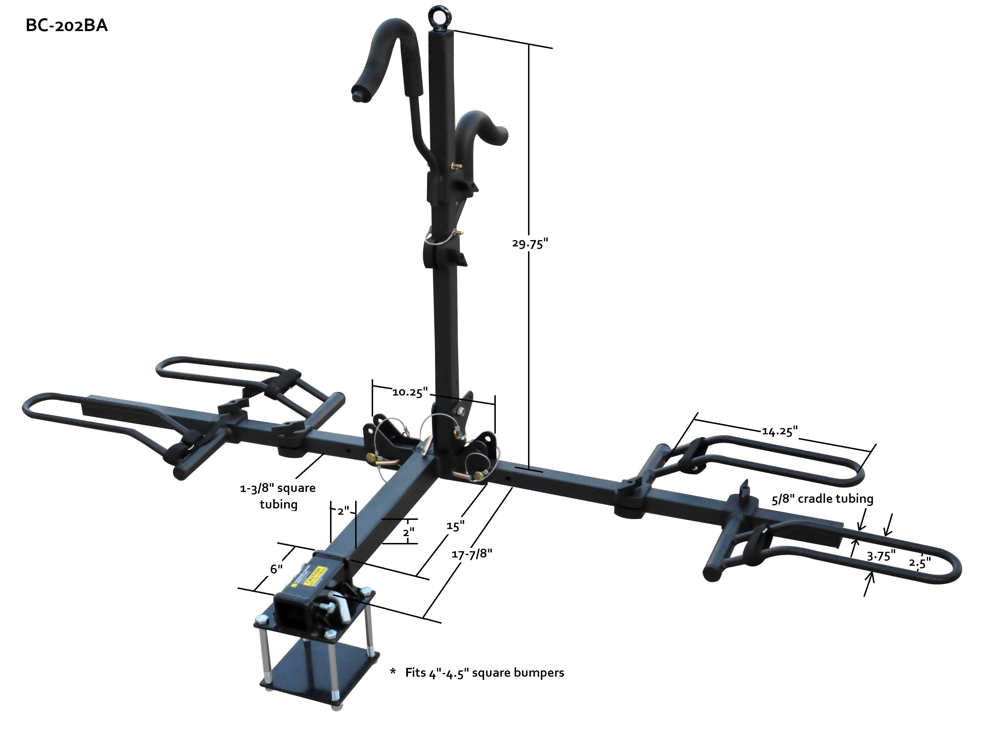 platform mount bike rack - model bc-202ba